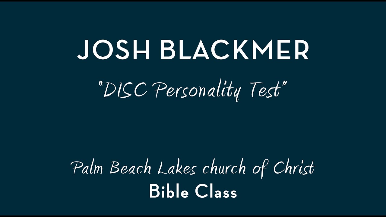 Biblical personality test