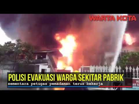 pabrik pengencer cat di tangerang terbakar