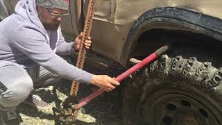 How To: Use A Hi-lift / Farm / High Lift Jack - Wheel Removal