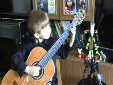 "Mikhail Likhachev (6 old) - ""Mazurka"" by M. Carcassi"