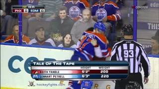 Keith Yandle vs Lennart Petrell Mar 18, 2012