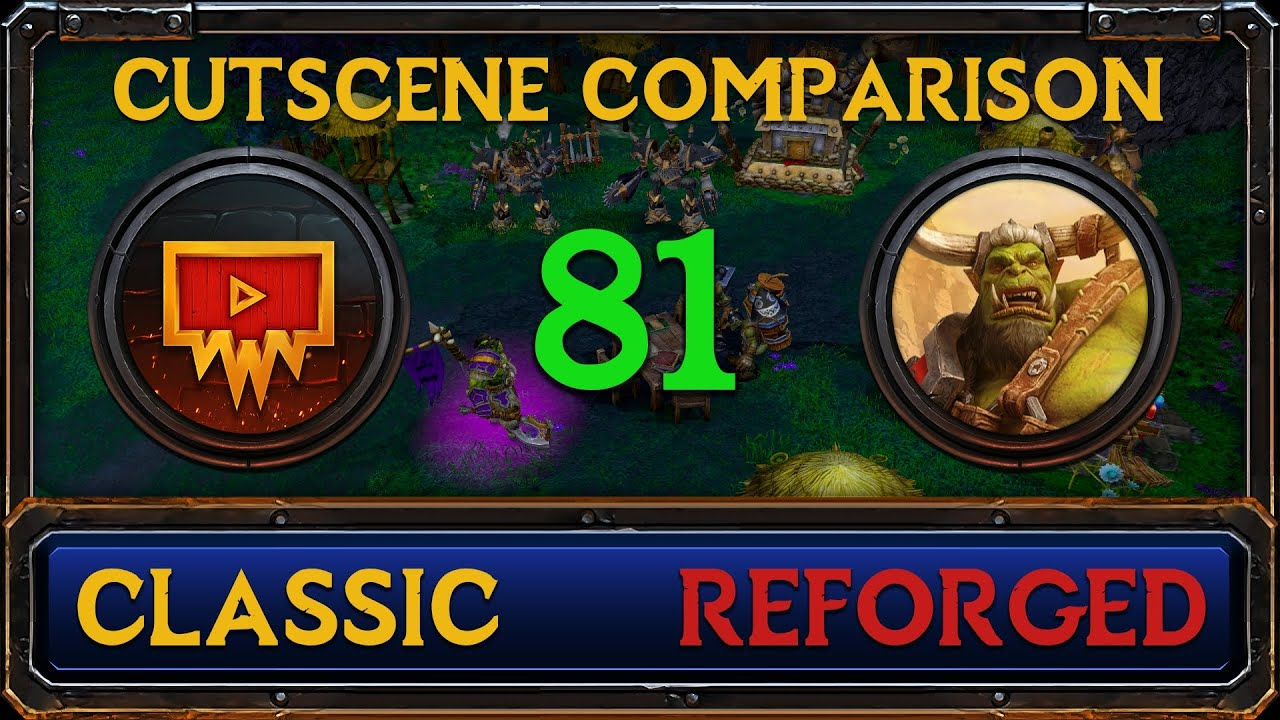 Warcraft 3: Reforged vs Classic Cutscene Comparison #81 - The Spirits of Ashenvale 2/2
