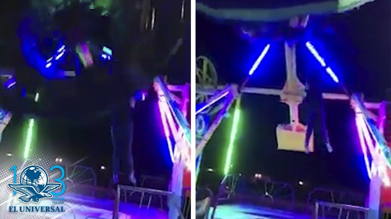 Resultado de imagen para Captan momento en que mujer cae de juego mecánico en Juárez Thumbnail El Universal