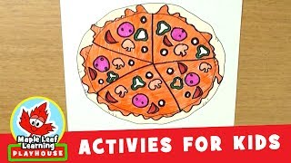 Draw a Pizza Activity for Kids | Maple Leaf Learning Playhouse