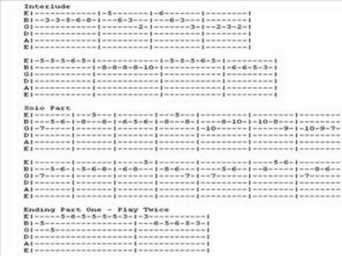 He's a pirate GUITAR TABS - YouTube