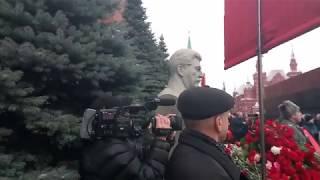 Stalins Geburtstag. Moskauer Bürger legen Blumen nieder