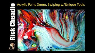 Paint Pour on Hardboard using LUKAS Cryl and Ricks Mix by Cheadle Designs 4