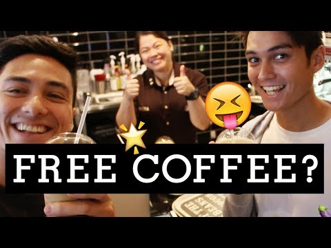 How we got FREE COFFEE!! (THIS WILL MAKE YOU CRINGE)