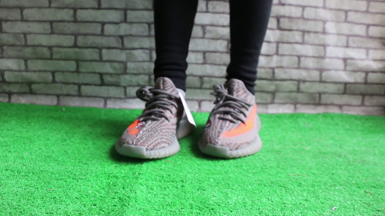 """86471cc82 First Look Yeezy 350 Boost V2 """"Stealth Grey"""" X Gucci On Feet - YouTube"""