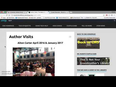 Tour of Marie Holland School Library Website