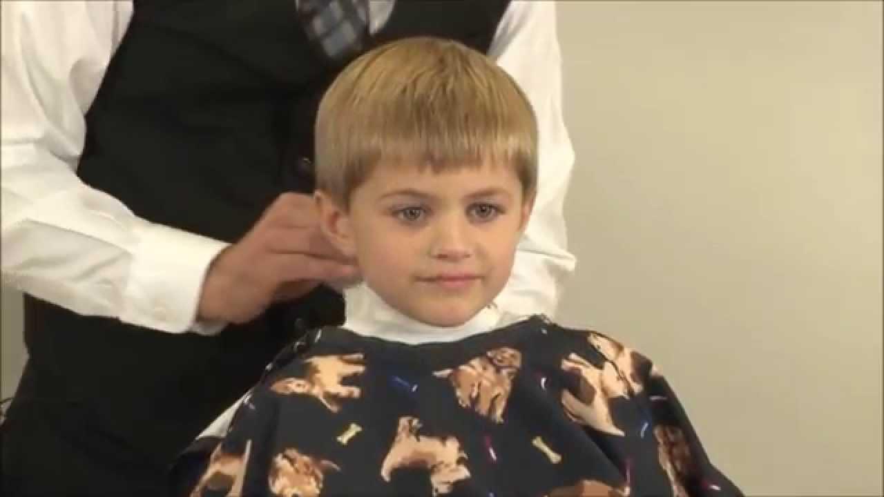 Boys Side Part Clipper Cut Childs Classic Side Part Haircut Part