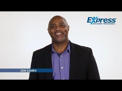 Joe  Leake | Video Profile | Express Employment Professionals