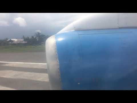 TransNusa Aviastar BAe-146 Take Off at Rahadi Oesman Airport, Ketapang