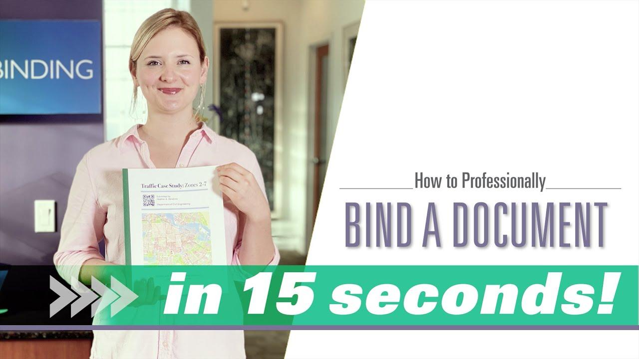 Document binding video
