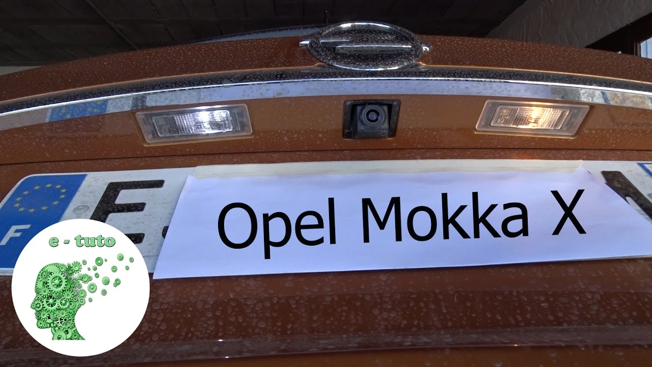 changer ampoule clairage de plaque opel mokka x youtube. Black Bedroom Furniture Sets. Home Design Ideas