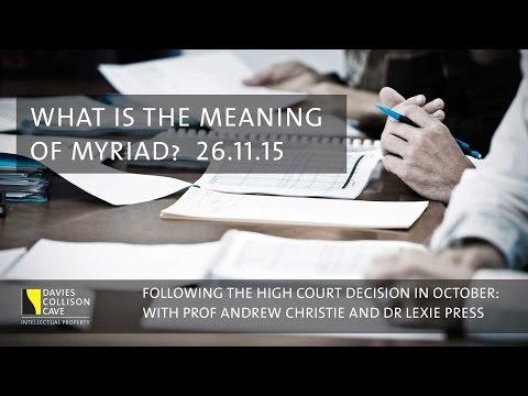 Myriad gene patent High Court decision - Chaptered seminar @ DCC Sydney
