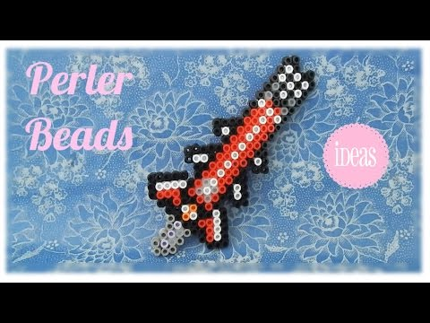 The Adamantite Sword (Terraria) in Perler Beads