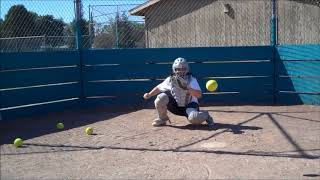 Madison Moreno Softball skills video