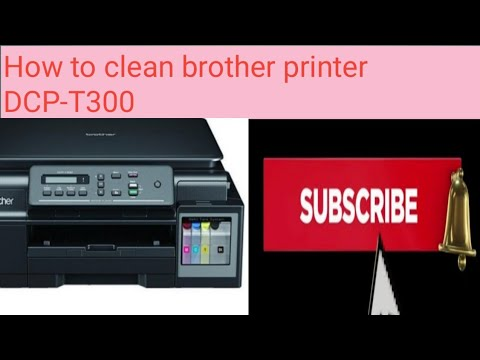 How to clean brother printer DCP-T300? Plz subscribe now