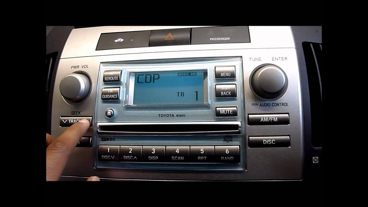 2006 toyota corolla verso cd player stereo youtube. Black Bedroom Furniture Sets. Home Design Ideas