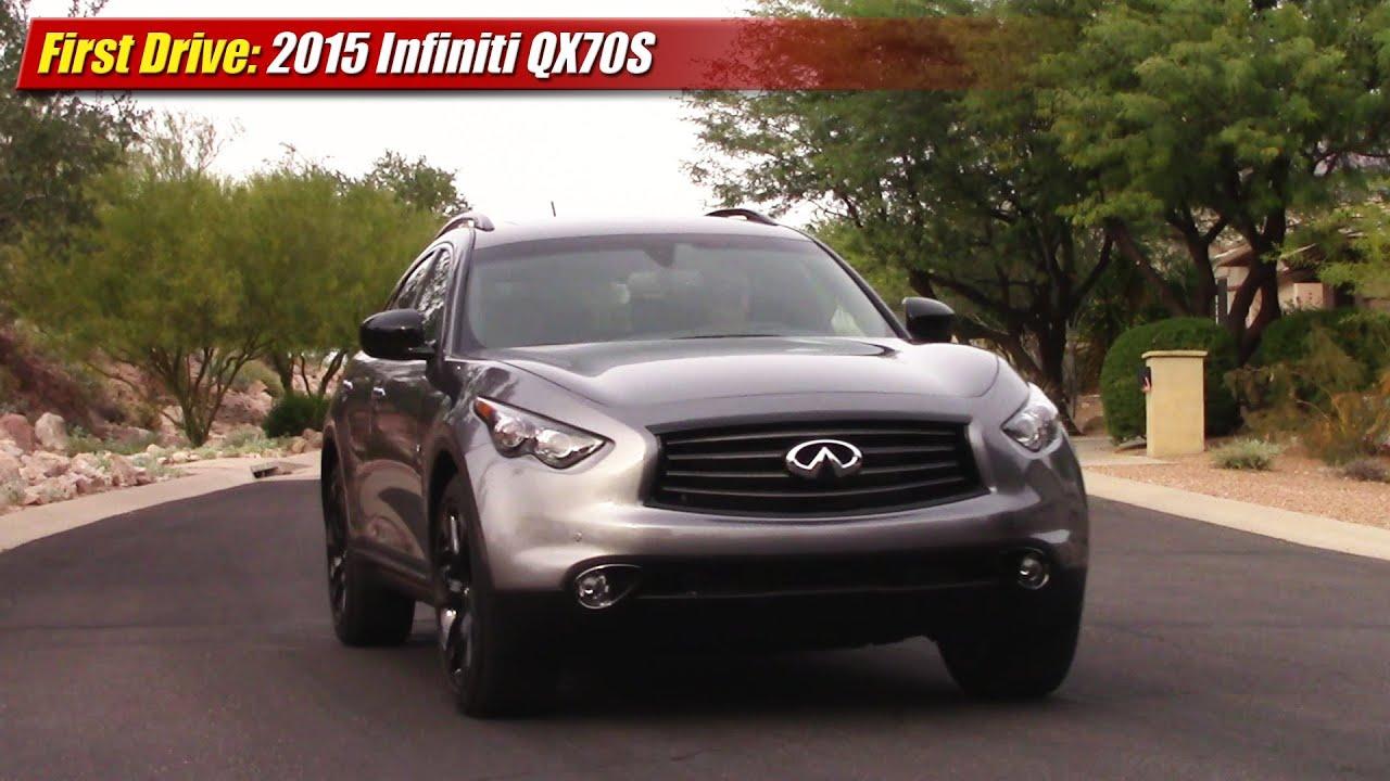 First Drive: 2015 Infiniti QX70S - YouTube