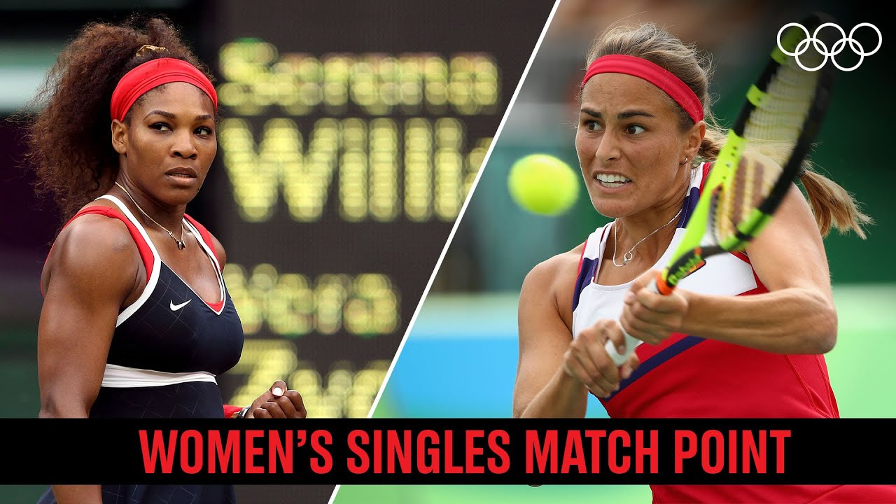 Download 🥇🎾 Women's singles match point throughout the Olympics!