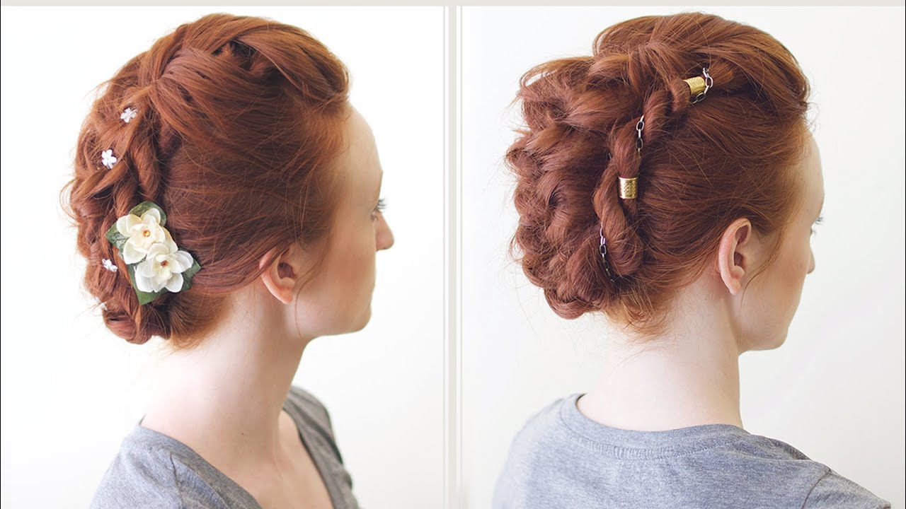 Hair Styles That Are In: Versatile Braided Fauxhawk Hairstyle