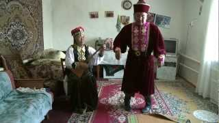 Kalmyk traditional song and dance performed by Nyamin Manjieyev and Nina Manjieyeva