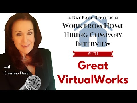 Great VirtualWorks - a Work from Home Opportunity Interview