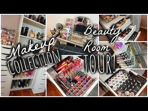 MY MAKEUP COLLECTION + BEAUTY ROOM TOUR 2015