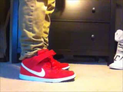 wholesale dealer 27916 d5706 Nike SB Dunk Mid Hyper Red Review w  On Feet