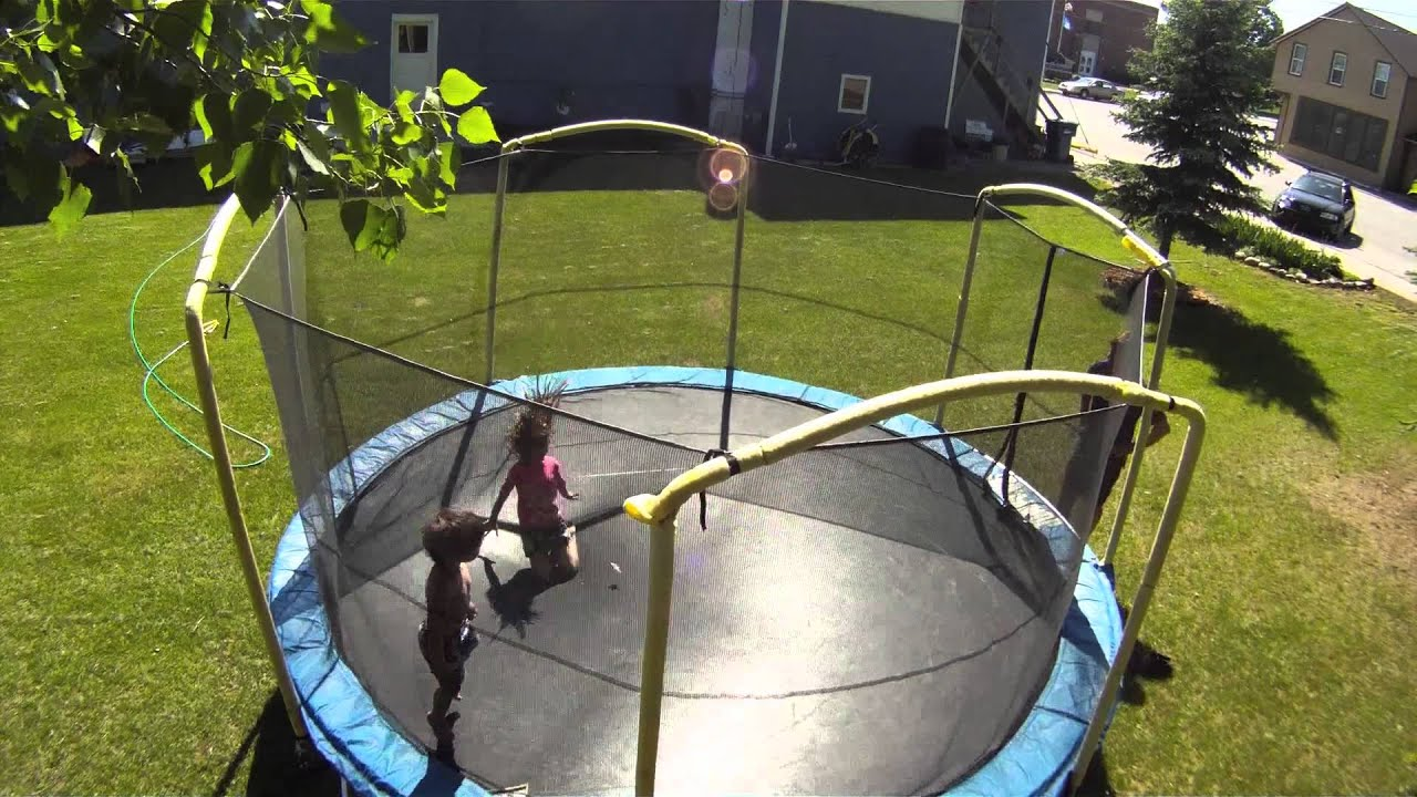 trampoline safety nets work for kids but not so well for adults youtube