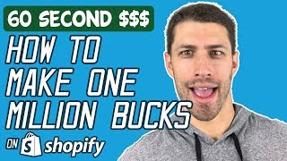 shopify how to make one million