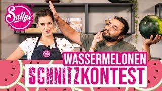 Wassermelonen Schnitz Contest/ Watermelon carving / MURAT 🆚 SALLY / Sallys Welt