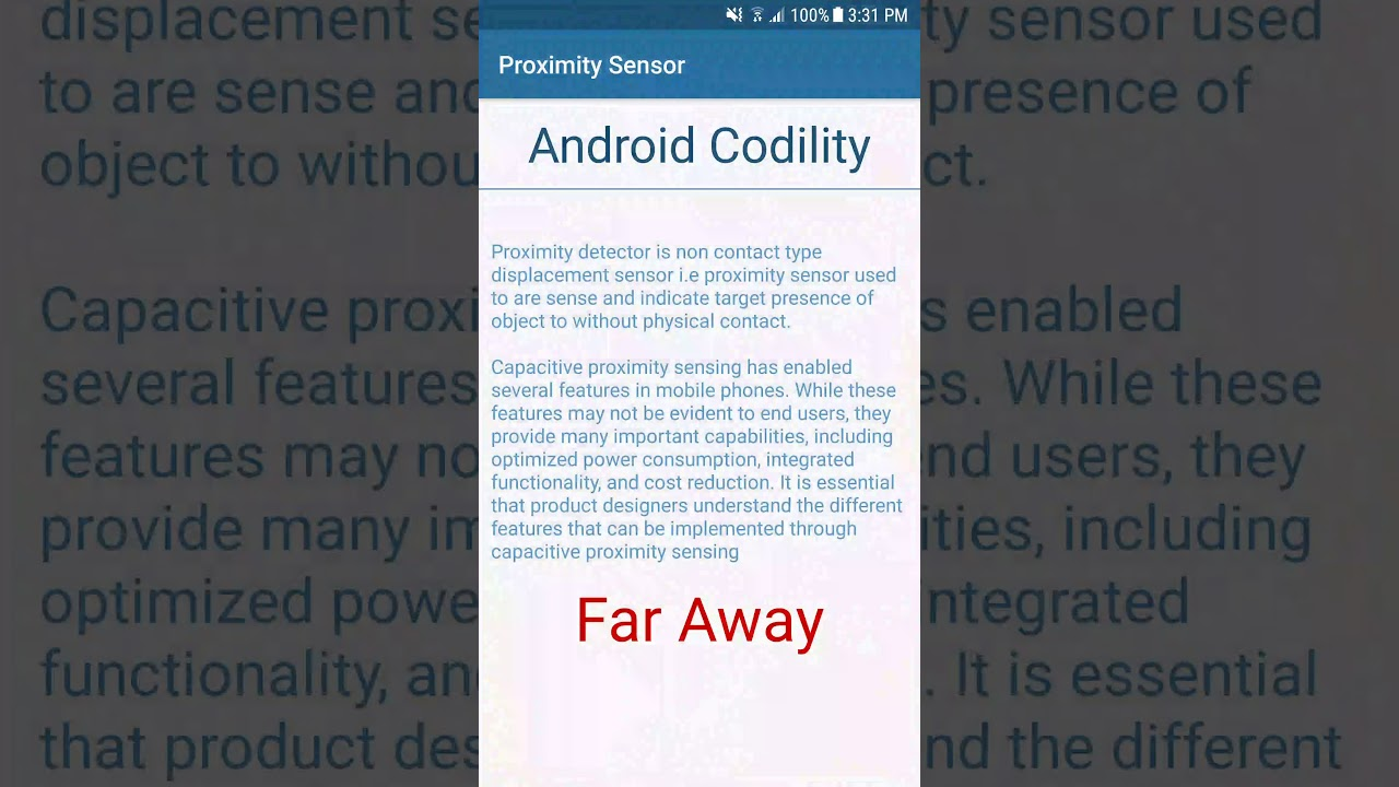Proximity sensor: features and capabilities
