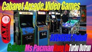 CABARET Arcade Games MS PACMAN-GALAGA-HANG ON-Avengers Pinball- TNT Amusements #1078