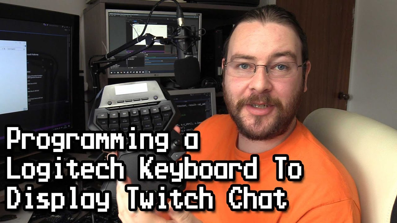 Programming Logitech Keyboard to Display Twitch Chat by javidx9