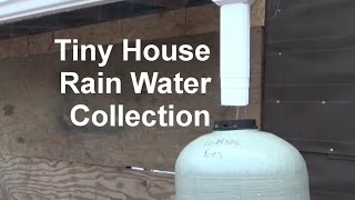 Rainy Day Collecting Free Tiny House Rain Water Supply