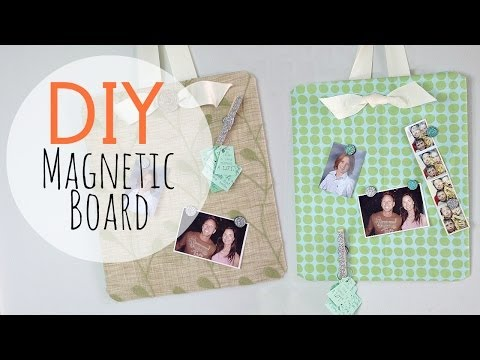 DIY Easy Magnetic Board & Glitter Magnets | by Michele Baratta
