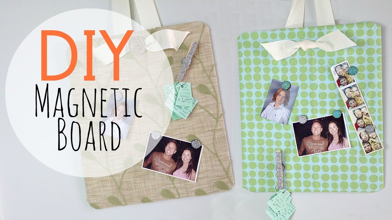 DIY Easy Magnetic Board & Glitter Magnets   by Michele ...