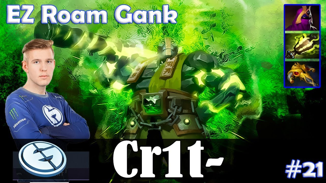Crit - Earth Spirit Roaming | EZ Roam Gank | Dota 2 Pro MMR Gameplay #21
