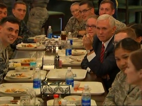 Pence Thanks Military Members During Hawaii Stop