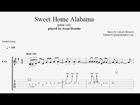 Sweet Home Alabama Solo Tab Guitar Solo Tab Pdf Guitar Pro