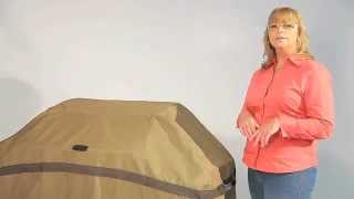 Classic Accessories Cart Bbq Cover - Tan, Fits Medium Bbq Carts Up To 58in.l X 24in.d X 48in.h, Mode