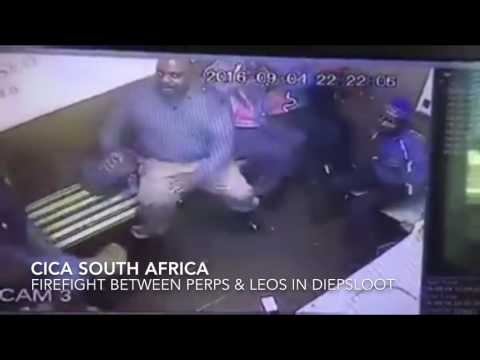 Armed criminals firing on Metro Police in Diepsloot Johannesburg South Africa
