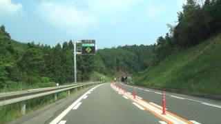 中国自動車道 徳地IC~鹿野IC 工事対面通行 2016.05.27
