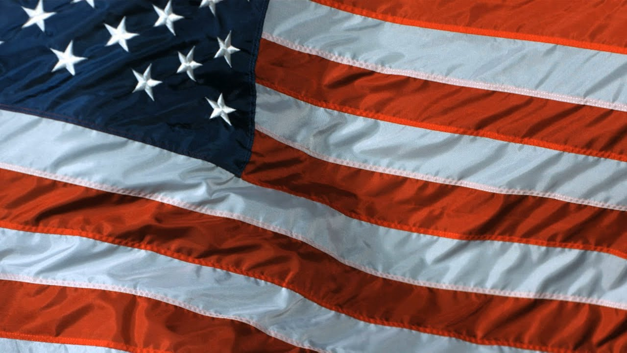 flag american slow motion
