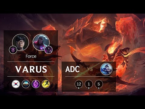 Varus ADC vs Ashe - KR Master Patch 9.20