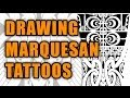 Drawing a Marquesan forearm tattoo with mixed Maori patterns