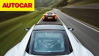 Honda NSX vs McLaren 570S   Autocar